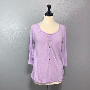 GAP | Lilac Purple Button Pullover Top S